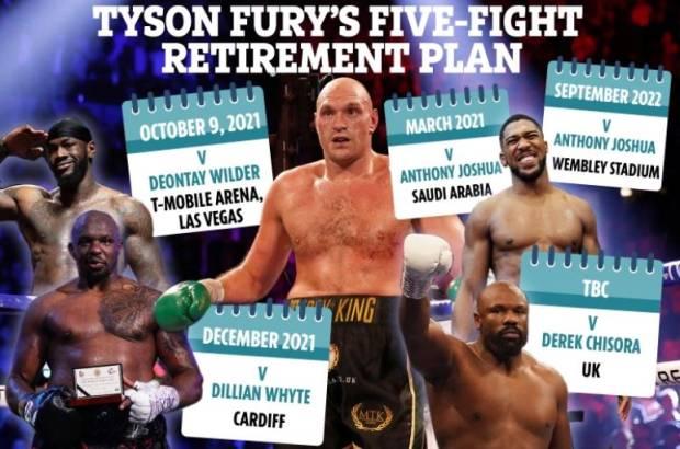 Tyson Fury Beberkan 5 Pertarungan Sensasional sebelum Pensiun