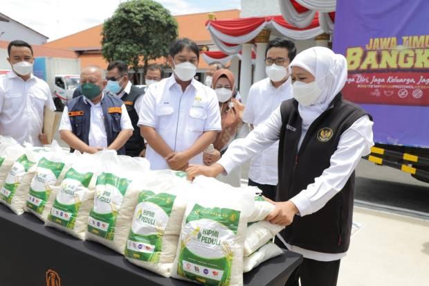 Perkuat Ketahanan Pangan, HIPMI Serahkan Bantuan 25 Ton Beras ke Pemprov Jatim