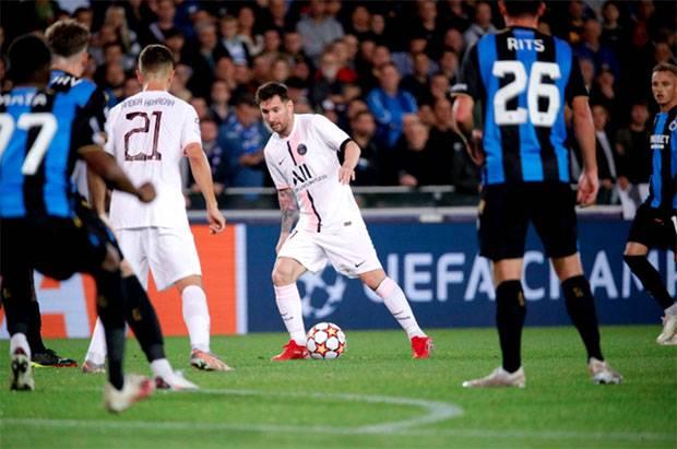 Hasil Liga Champions: Club Brugge vs PSG, Messi Mandul Les Parisiens Ditahan Imbang