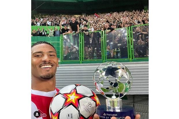 Sebastien Haller Top Skor Sementara Liga Champions