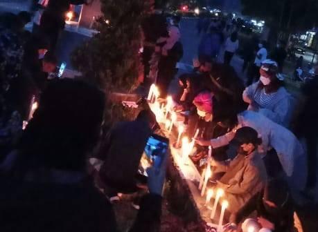 Suster Cantik Gabriella Meilani Dibunuh KKB, Ratusan Nakes Gelar Seribu Lilin