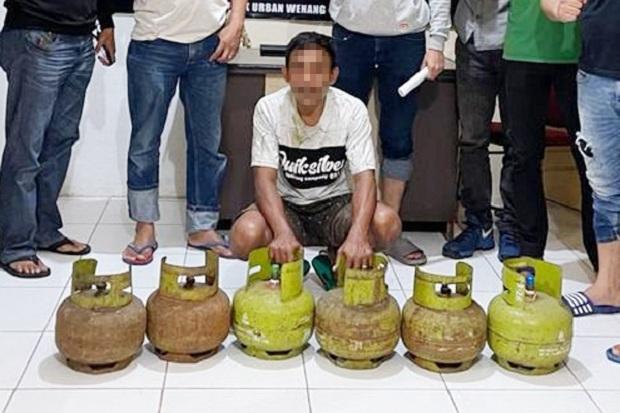 Polda Sulut Amankan Spesialis Pencurian Tabung LPG yang Aksinya Terekam CCTV