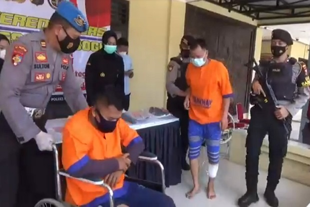 Rampok Nasabah Bank, Kaki 2 Warga OKI Ditembak Anggota Polres Ponorogo