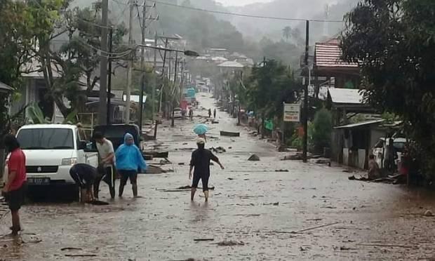 Banjir Bandang Terjang Minahasa Tenggara, 4 Rumah Tersapu Air Bah