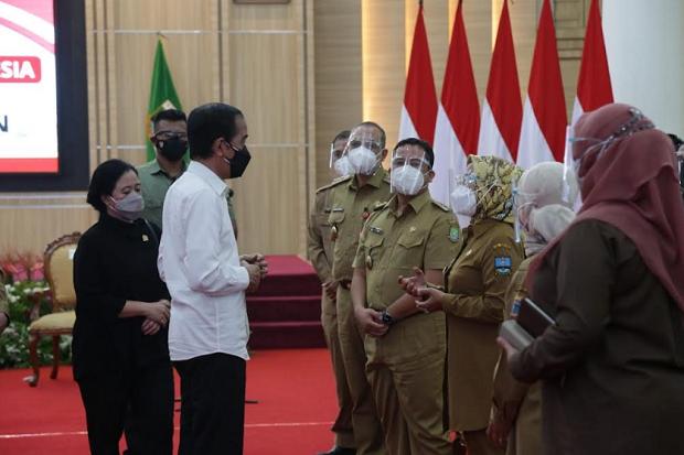 Bertemu para Kepala Daerah di Banten, Presiden Jokowi Minta Optimalkan Vaksinasi