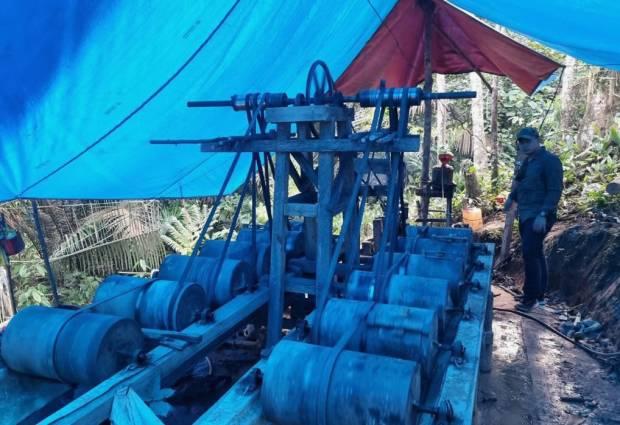 Tertangkap Basah Menambang Emas Ilegal, Mahasiswa di Bungo Diamankan Polisi