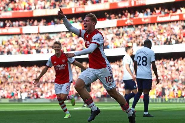 Hasil Babak I Arsenal vs Tottenham: The Gunners Pesta Gol di Emirates