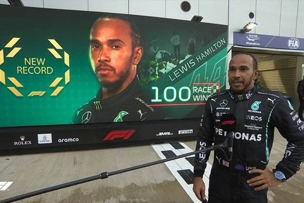 Klasemen Pembalap F1 2021, Minggu (26/9/2021): Lewis Hamilton ke Puncak Usai Raih Kemenangan ke-100