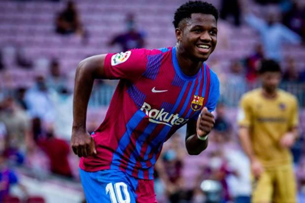 Bikin Gol Setelah Absen 322 Hari, Ansu Fati Bangga Pakai Nomor Messi