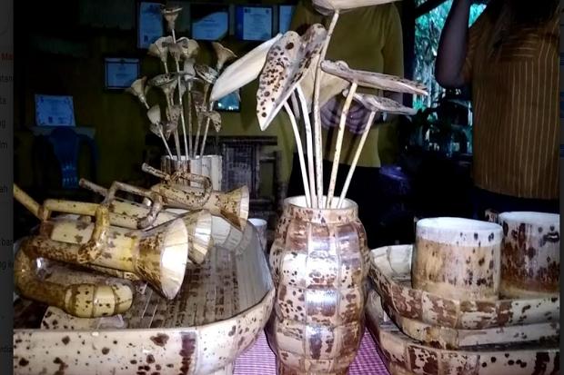 Kreasi Unik, Miniatur dari Bambu Batik Terkenal hingga Mancanegara