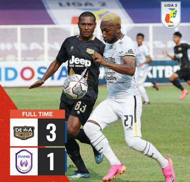 Hasil Liga 2 Dewa United vs RANS Cilegon: Prestige Phoenix Terjatuh