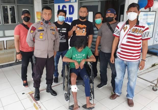 Todongkan Sajam ke Penumpang Angkot, Preman Belawan Ditembak