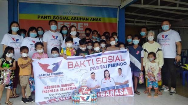 Doa dan Harapan Anak-anak Yatim Piatu di Minahasa Sambut HUT ke-7 Perindo