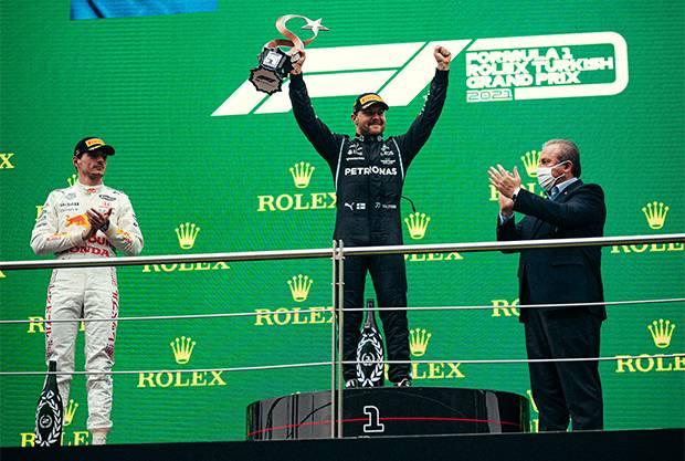 Valtteri Bottas Girang Raih Kemenangan Perdana di Formula 1 2021