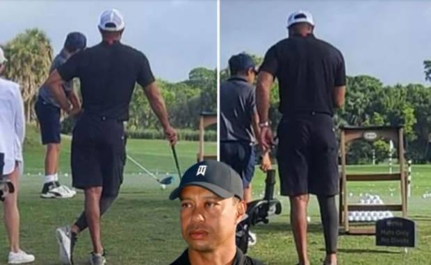 Penampakan Tiger Woods di Lapangan Golf Pasca Kecelakaan Maut
