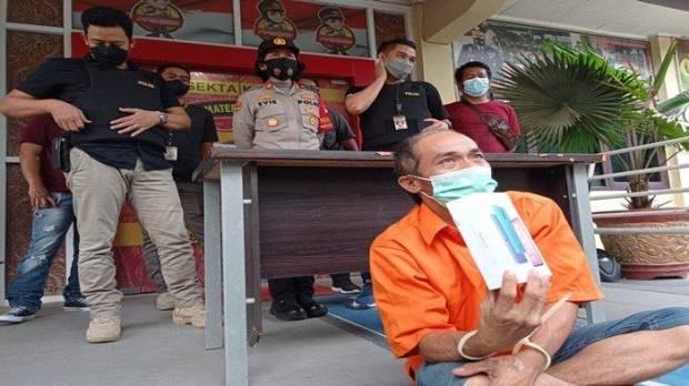 Modus Minta Sumbangan, Pria 52 Tahun Gasak Handphone di Rumah Warga, Ditangkap Polisi