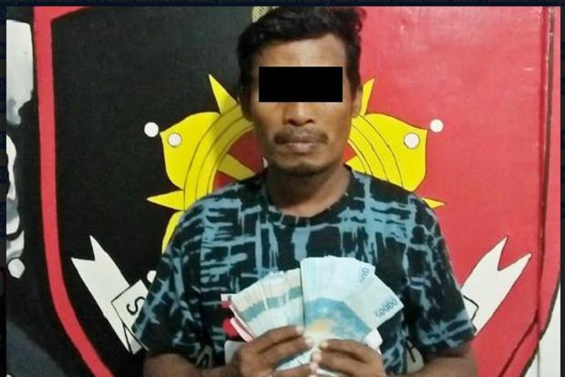 Curi Uang Jutaan Rupiah dari Mobil, Tukang Parkir Diamankan Polres Bitung