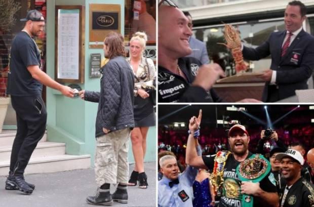Jiwa Malaikat Tyson Fury Lepas Lobster Rp3,5 Juta ke Laut, Beri Gelandangan Sepatu Nike