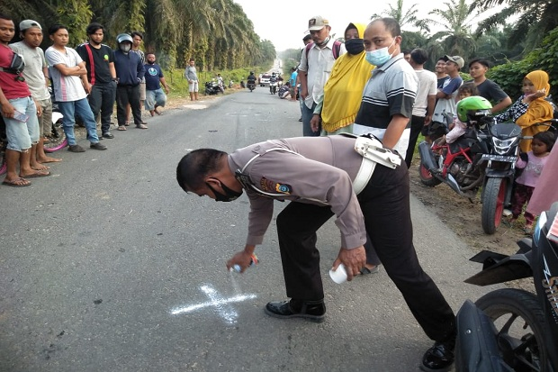 Tabrak Kijang di Jalan Pardagangan- Sungai Langge, Pemotor Tewas di Lokasi