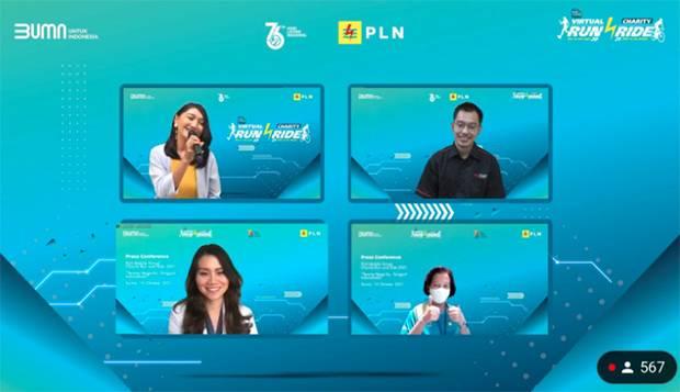 PLN Gelar PLN Mobile Virtual Charity Run and Ride
