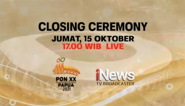 Wapres Ma'ruf Amin Pimpin Closing Ceremony PON XX Papua 2021, Saksikan Secara LIVE Hanya di iNews